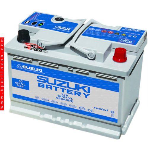 باتری اتمی سوزوکی 60 آمپر پایه بلند